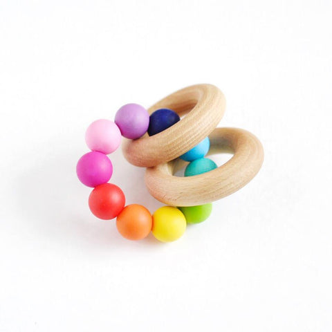 Tiny Inspirations - Rattle Teether Rainbow