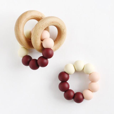 Tiny Inspirations - Rattle Teether Trio - Currant Red
