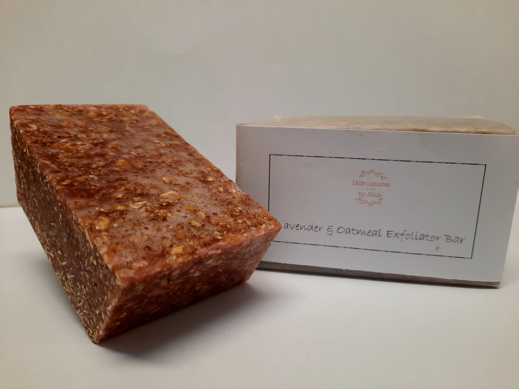 Lavender and Oatmeal Exfoliator Bar
