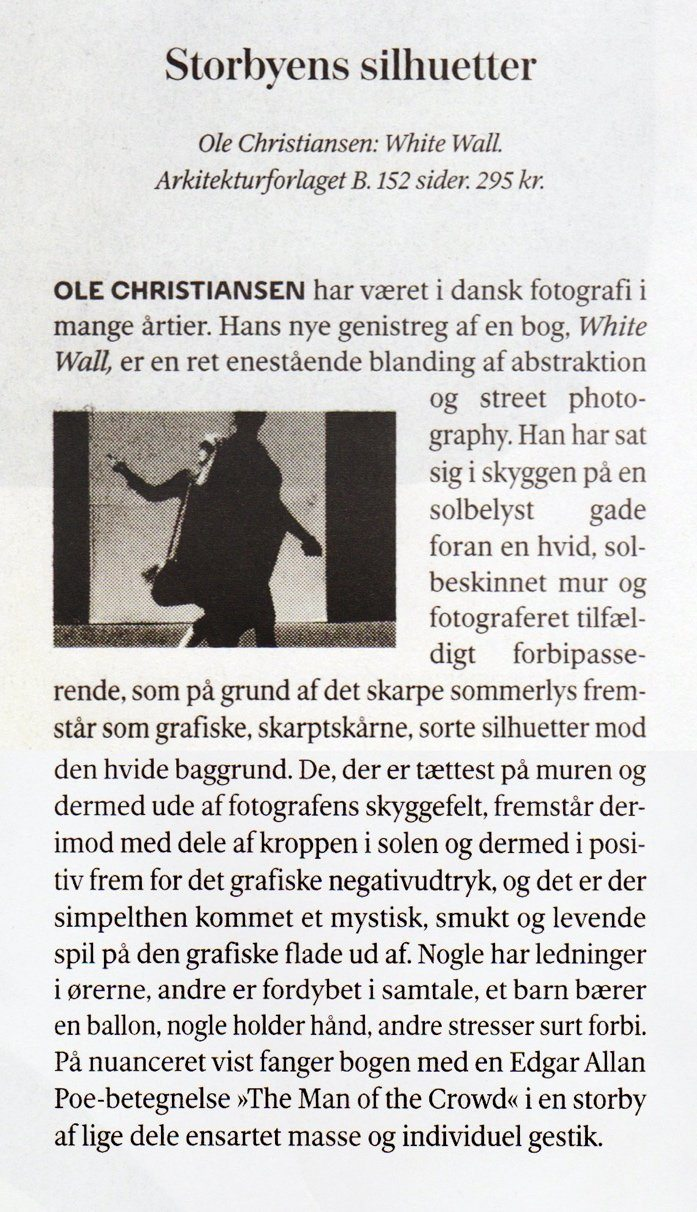 Ole Christiansen 'White Wall' Weekendavisen