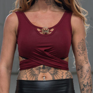 MVL crop top - Bordeaux red
