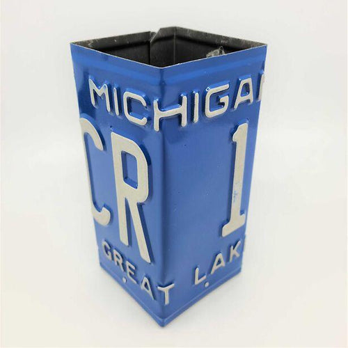 Michigan License Plate Pencil Holder