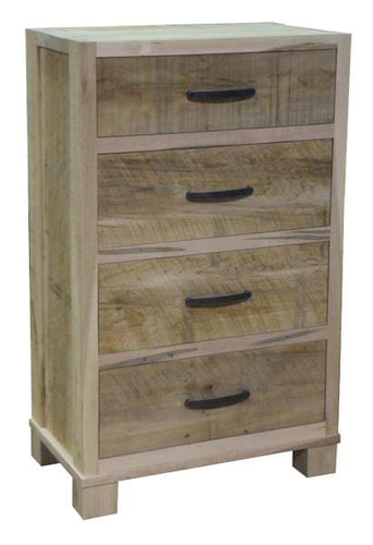 Backwoods 4 Drawer Dresser, Light Finish