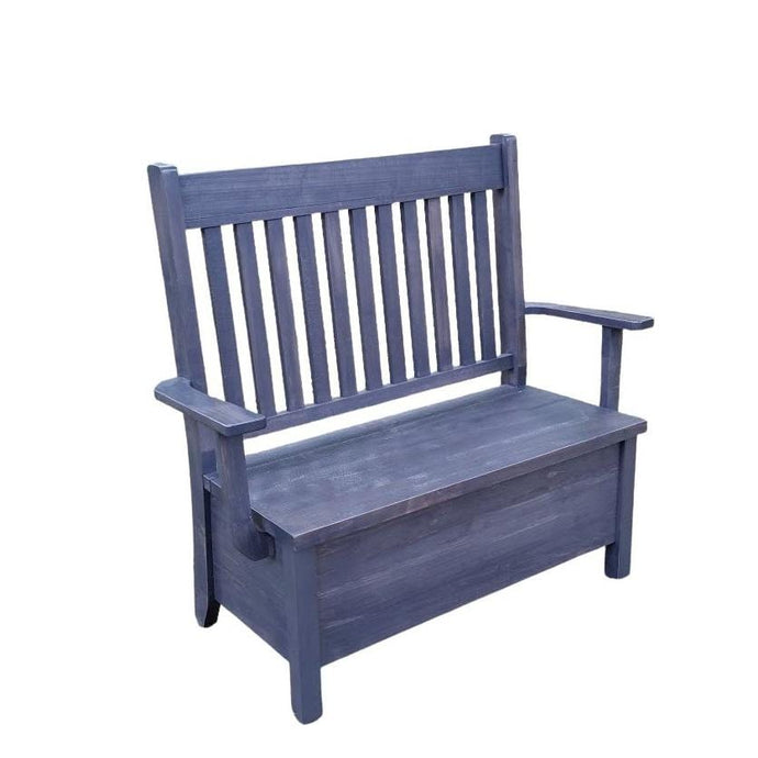 Dakota Slat Back Storage Bench