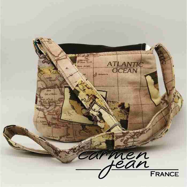Jody Crossbody - Atlantic Map