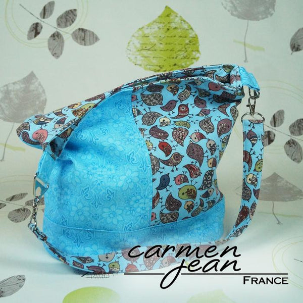 Bonnie Bucket Bag - Blue Birds - Handbag