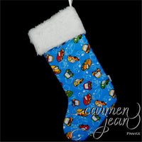 Toy cars Christmas Stocking