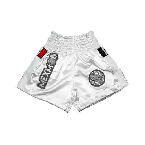 MEXMOB BLANCO KICKBOXING MUAY THAI SHORT