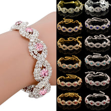 Load image into Gallery viewer, Women's Elegant Wedding Banquet Bangle Cocktail Party Rhinestone Bracelet