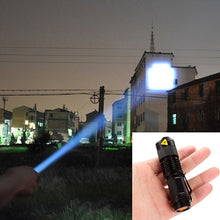Load image into Gallery viewer, Portable Hard Light Lantern Torch LED Flashlight Lamp Ultrafire Zoomable Penlight