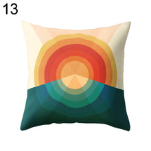 Load image into Gallery viewer, Colorful Sunrise Pillow Case Waist Support Cushion Cover Car Home Sofa Decor