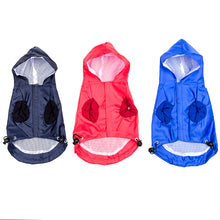 Load image into Gallery viewer, New Pet Dog Waterproof Rain Proof Hooded Raincoat Elastic Band Breathable Jacket