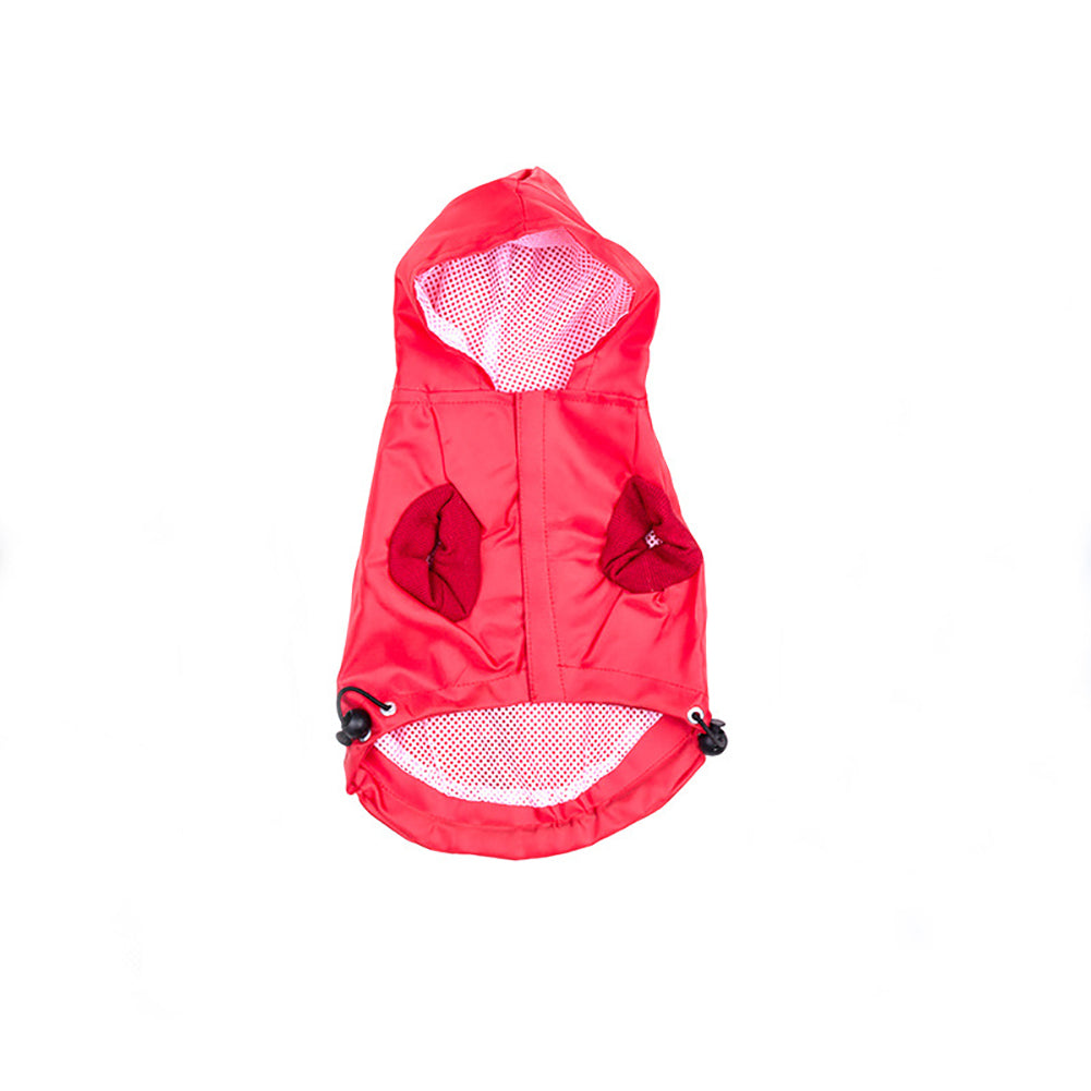 New Pet Dog Waterproof Rain Proof Hooded Raincoat Elastic Band Breathable Jacket