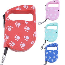 Load image into Gallery viewer, 3m Dog Footprint Lead Retractable Leash Pet Traction Rope Chain Harness Collar