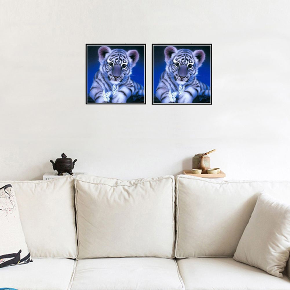 Fashion 5D DIY Crafts Diamond Painting Art Room Cute Tiger Room Wall Decoration