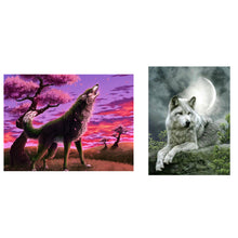 Load image into Gallery viewer, Cool Wolf Art Painting By Numbers Handmade DIY Manual Picture Wall Decor Gift