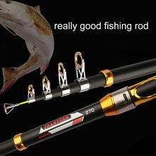 Load image into Gallery viewer, Portable 2.1m-3.6m Carbon Fiber Travel Telescopic Spinning Sea Fishing Rod Pole