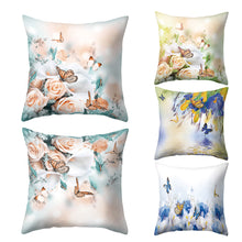 Load image into Gallery viewer, Flower Butterfly Pillow Case Cushion Cover Sofa Bed Car Cafe Office Decoration
