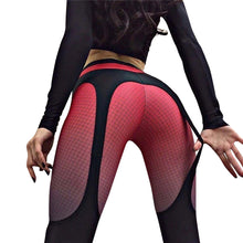 Load image into Gallery viewer, High Waist Grid Splicing Women Fitness Yoga Stretch Leggings Slim Pencil Pants