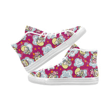 Load image into Gallery viewer, Charity angels wings stars flower Vancouver High Top Canvas Women's Shoes