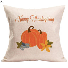 Load image into Gallery viewer, Thanksgiving Decorative Cushion Cover Home Sofa Car Bed Linen Square Pillowcase