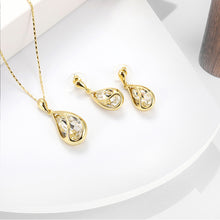 Load image into Gallery viewer, Fashion Waterdrop Stud Earrings Necklace Women Banquet Party Jewelry Set