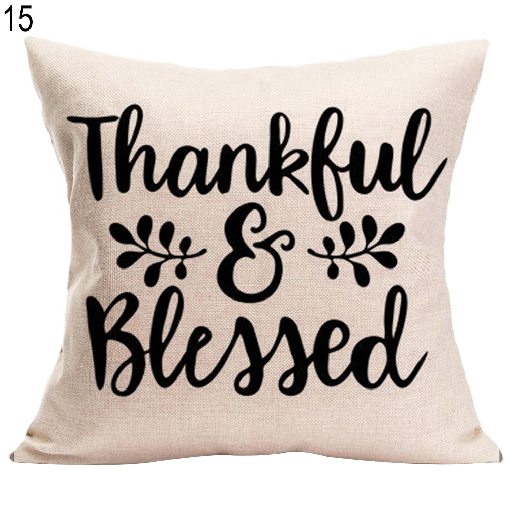 Thanksgiving Decorative Cushion Cover Home Sofa Car Bed Linen Square Pillowcase
