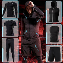 Load image into Gallery viewer, Men's Running Sets Gym Tight Sport Clothing Basketball Training Tracksuit Fitness Jogging Sports Wear Compression Sports Clothes