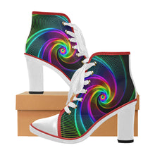Load image into Gallery viewer, retro women's chunky heal ankle boots