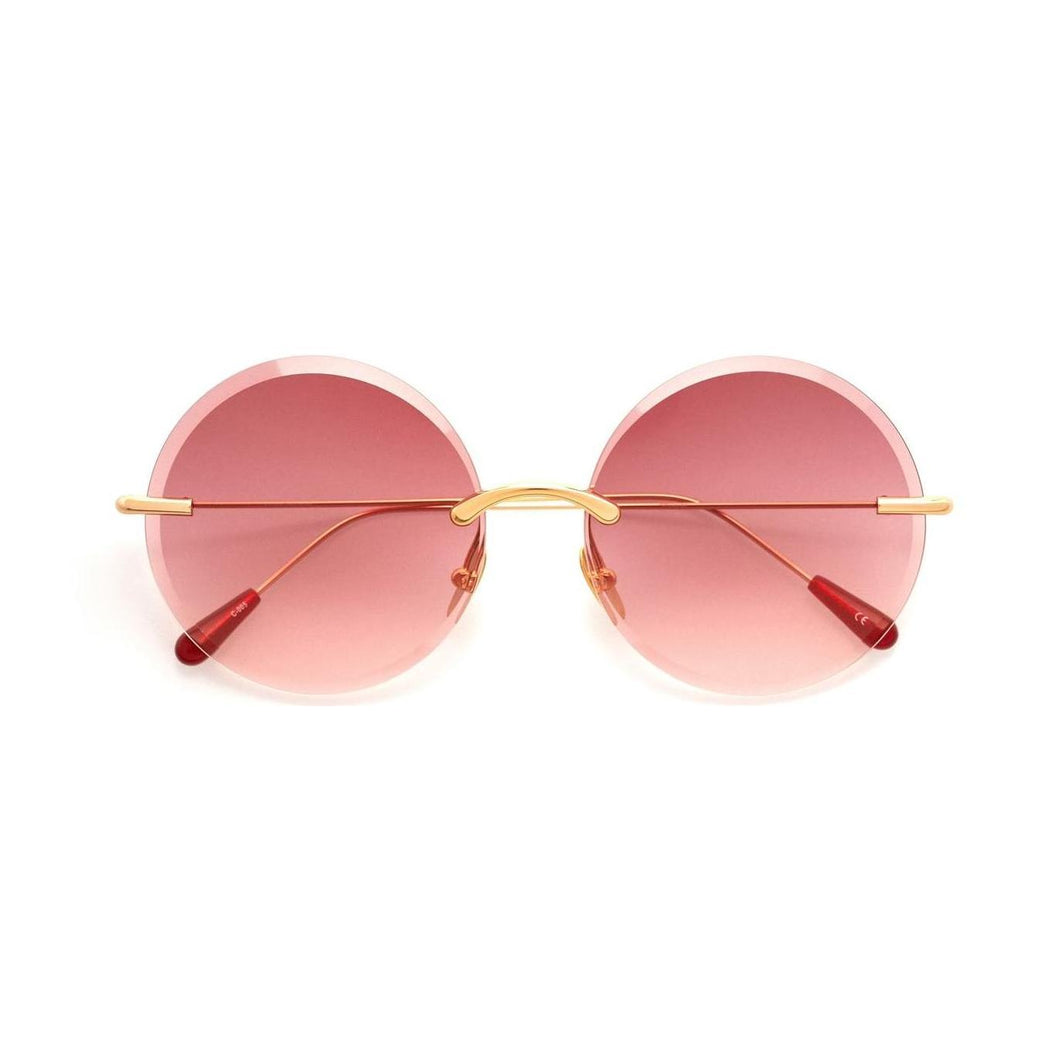 GOLD / GRADIENT PINK LENSES