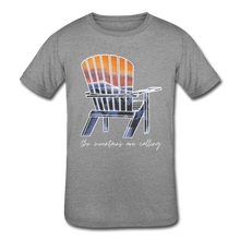 "Load image into Gallery viewer, Kids' ""Mountains Are Calling"" Short Sleeve Tee - heather gray"