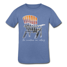 "Load image into Gallery viewer, Kids' ""Mountains Are Calling"" Short Sleeve Tee - heather Blue"