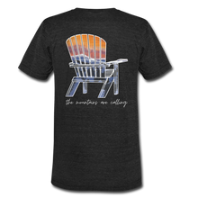 "Load image into Gallery viewer, ""Mountains Are Calling"" Short Sleeve Shirt - heather black"