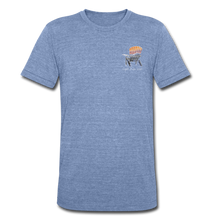 "Load image into Gallery viewer, ""Mountains Are Calling"" Short Sleeve Shirt - heather Blue"