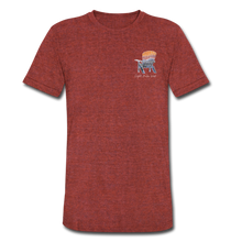 "Load image into Gallery viewer, ""Mountains Are Calling"" Short Sleeve Shirt - heather cranberry"