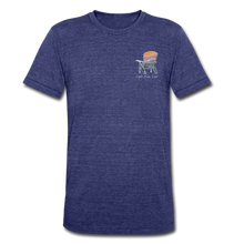 "Load image into Gallery viewer, ""Mountains Are Calling"" Short Sleeve Shirt - heather indigo"