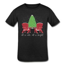 "Load image into Gallery viewer, Kids' ""Calm & Bright"" Short Sleeve Tee - heather black"