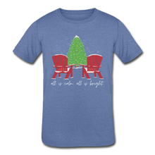 "Load image into Gallery viewer, Kids' ""Calm & Bright"" Short Sleeve Tee - heather Blue"