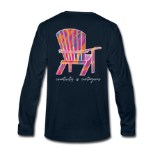 "Load image into Gallery viewer, ""Creativity Is Contagious"" Long Sleeve Tee - deep navy"
