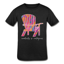 "Load image into Gallery viewer, Kids' ""Creativity Is Contagious"" Short Sleeve Tee - heather black"