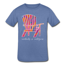 "Load image into Gallery viewer, Kids' ""Creativity Is Contagious"" Short Sleeve Tee - heather Blue"