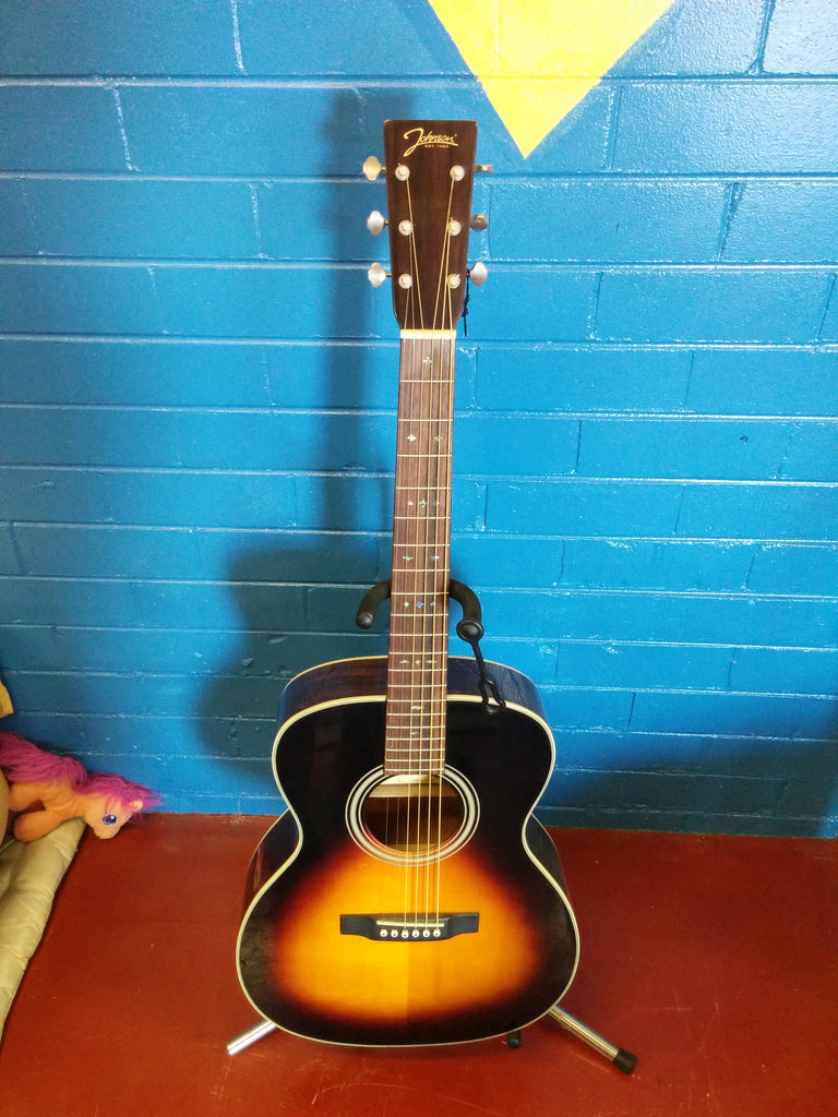 Johnson Left Handed Acoustic Guitar JO-16-L-SN