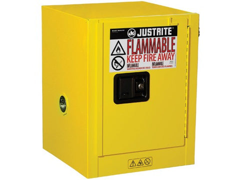 Sure-Grip® EX Countertop Flammable Safety Cabinet, 4 Gallon, Yellow