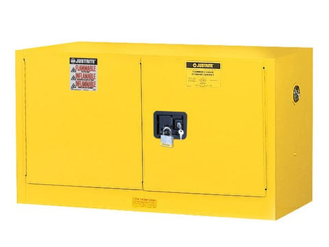 Sure-Grip® EX Wall Mount Flammable Safety Cabinet, 17 Gallon, 2 Manual Close Doors, Yellow