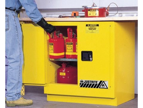 Sure-Grip® EX Undercounter Flammable Safety Cabinet, 22 Gallon, Yellow