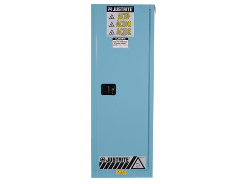 Sure-Grip® EX Slimline Corrosives/Acid Steel Safety Cabinet, 22 Gallon, Blue