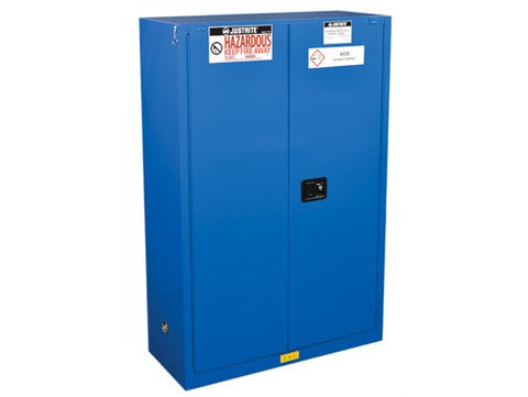 Sure-Grip® EX Hazardous Material Steel Safety Cabinet, 45 Gallon, 2 Self-Close Doors, Royal Blue