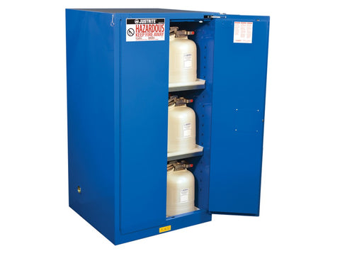 Sure-Grip® EX Hazardous Material Steel Safety Cabinet, 60 Gallon, 2 Self-Close Doors, Royal Blue