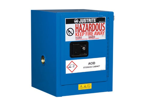 Sure-Grip® EX Countertop Hazardous Material Safety Cabinet, 4 Gal, 1 Self-Close Door, Royal Blue