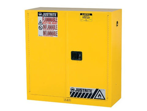 Sure-Grip® EX Flammable Safety Cabinet, 30 Gallon, 44 Inch Height, Yellow